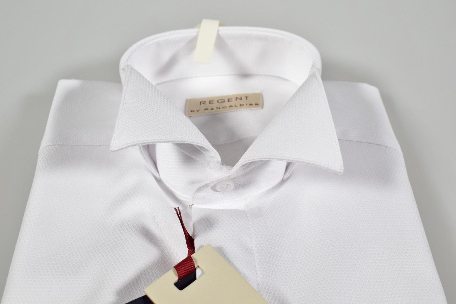 100% authentic d12d0 a29c9 Dettagli su Camicia Pancaldi elegante cerimonia uomo collo diplomatico  vestibilità slim fit